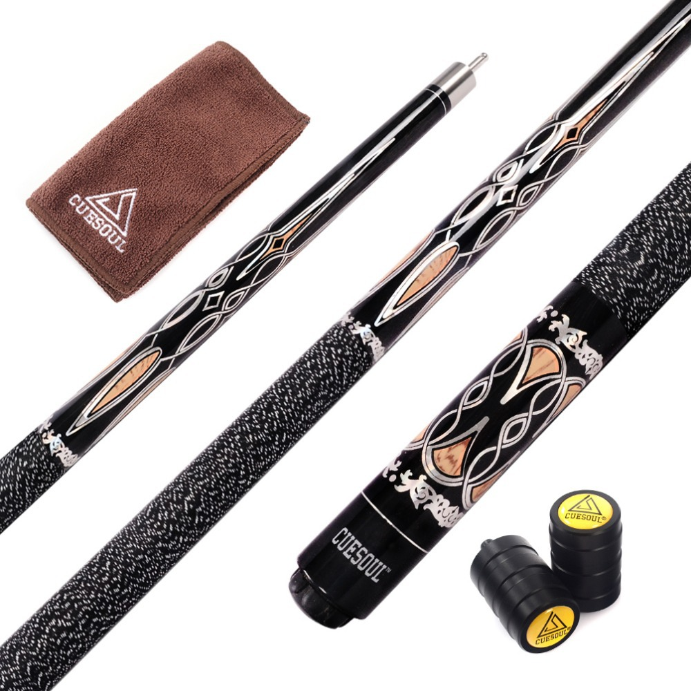 CUESOUL Free Shipping Canadian Maple Wood Pool Cue Stick 57 inch With 13mm Cue Tips With Cue Joint Protector
