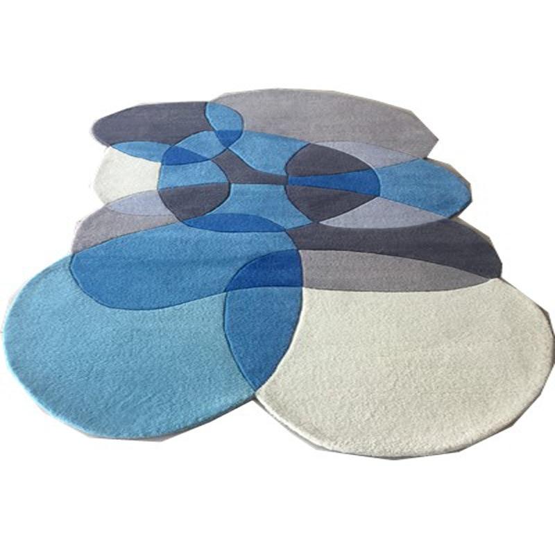 Высокое качество необычный журнальный столик для гостиной ковер геометрический акриловые ковры для гостиной коврики для спальни ручной работы