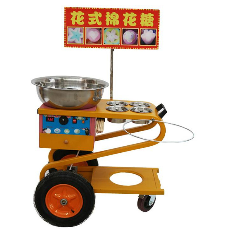 220V Commercial Electric Cotton Candy Machine Gas Fancy Cotton Candy Maker Snack Machine Stainless Steel Machine fast food leisure fast food equipment stainless steel gas fryer 3l spanish churro maker machine
