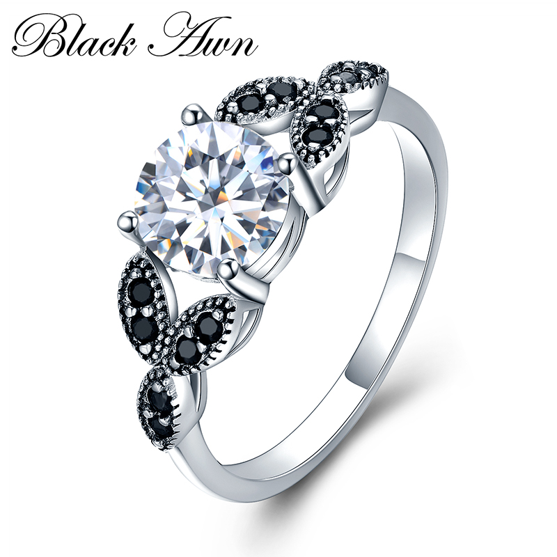 Classic 925 Sterling Silver Fine Jewelry Trendy Engagement Bague For Women Wedding Rings Bijoux Size 6 7 8 9 10 C035