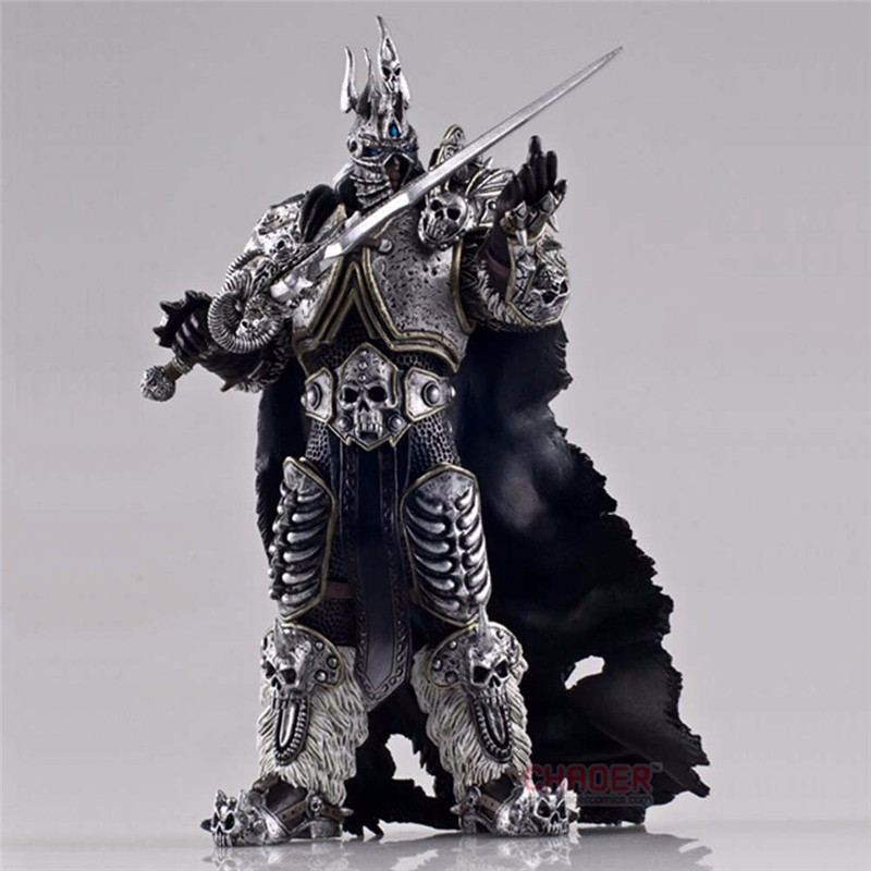 2016 New Free Shipping High Quality WOW Figure Toy Lich King Alsace Lassic Toys For Boys Kids Toys 16cm hot wow dc7 fall of the lich king arthas action figure model toy 21cm free shipping ka0447