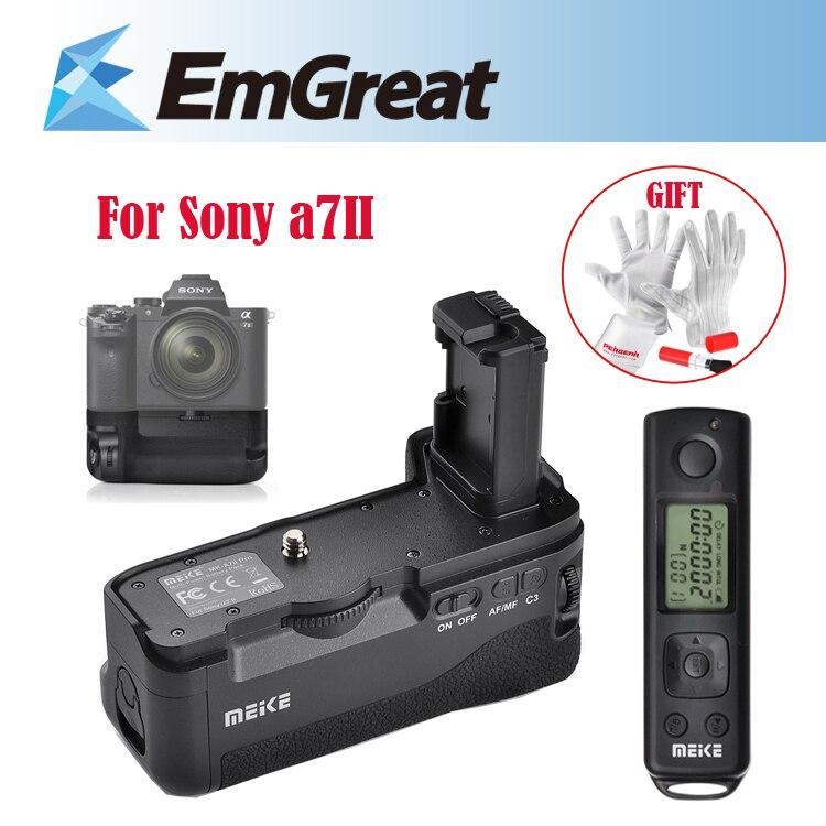 Origine MEIKE MK-A7II Pro Batterie Vertical Grip Support Pack pour SONY A7II/Sony A7RII avec 2.4G Sans Fil À Distance contrôleur