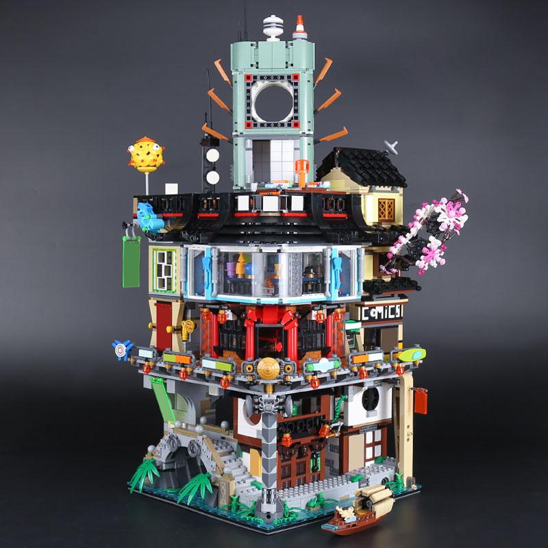 LEPIN 06066 City Series 4932pcs education Building Blocks kid Toys Bricks Compatible 70620 Children legoINGlys Stock