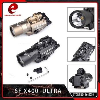 Element Airsoft X400 CREE Ultra Weapon LED Pistol M4 Rifle Flashlight Red Dot Laser X400U Gun Light 20mm Rail Mount 450 Lumen