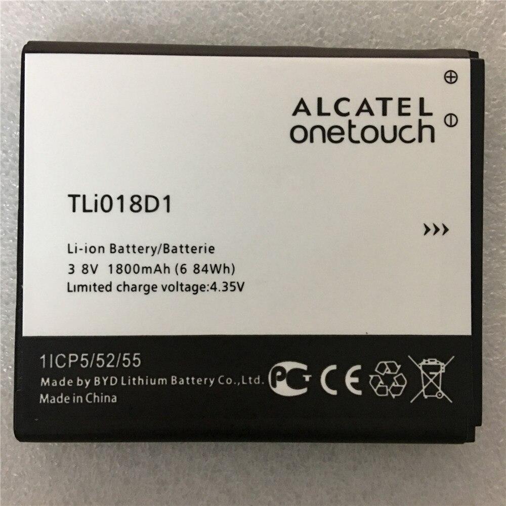 Novo 1800 mah tli018d1 bateria para alcatel um toque pop d5 duplo 5038x ot5038x pop 3 5015d ot 5016 5051a bateria do telefone