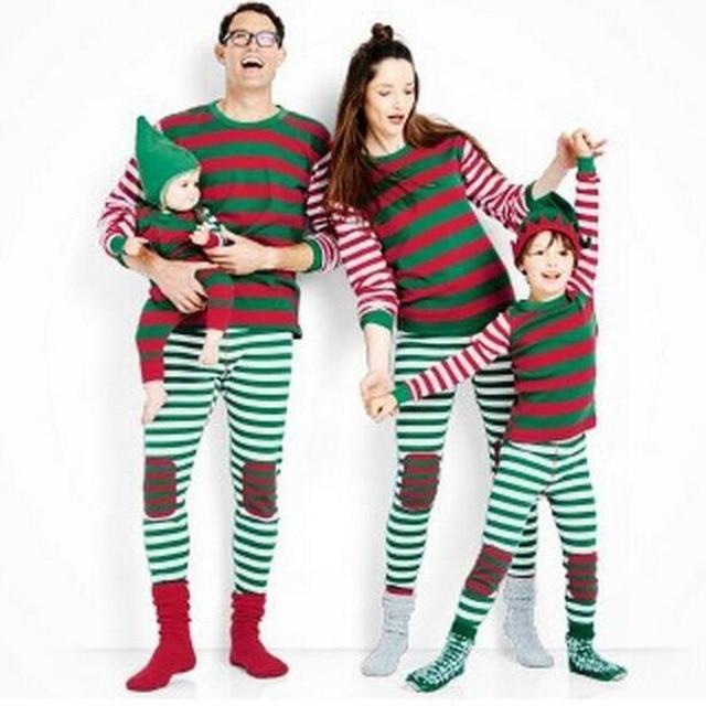 Puseky Familia Pijamas De Navidad Familia A Juego Ropa De Ano Nuevo