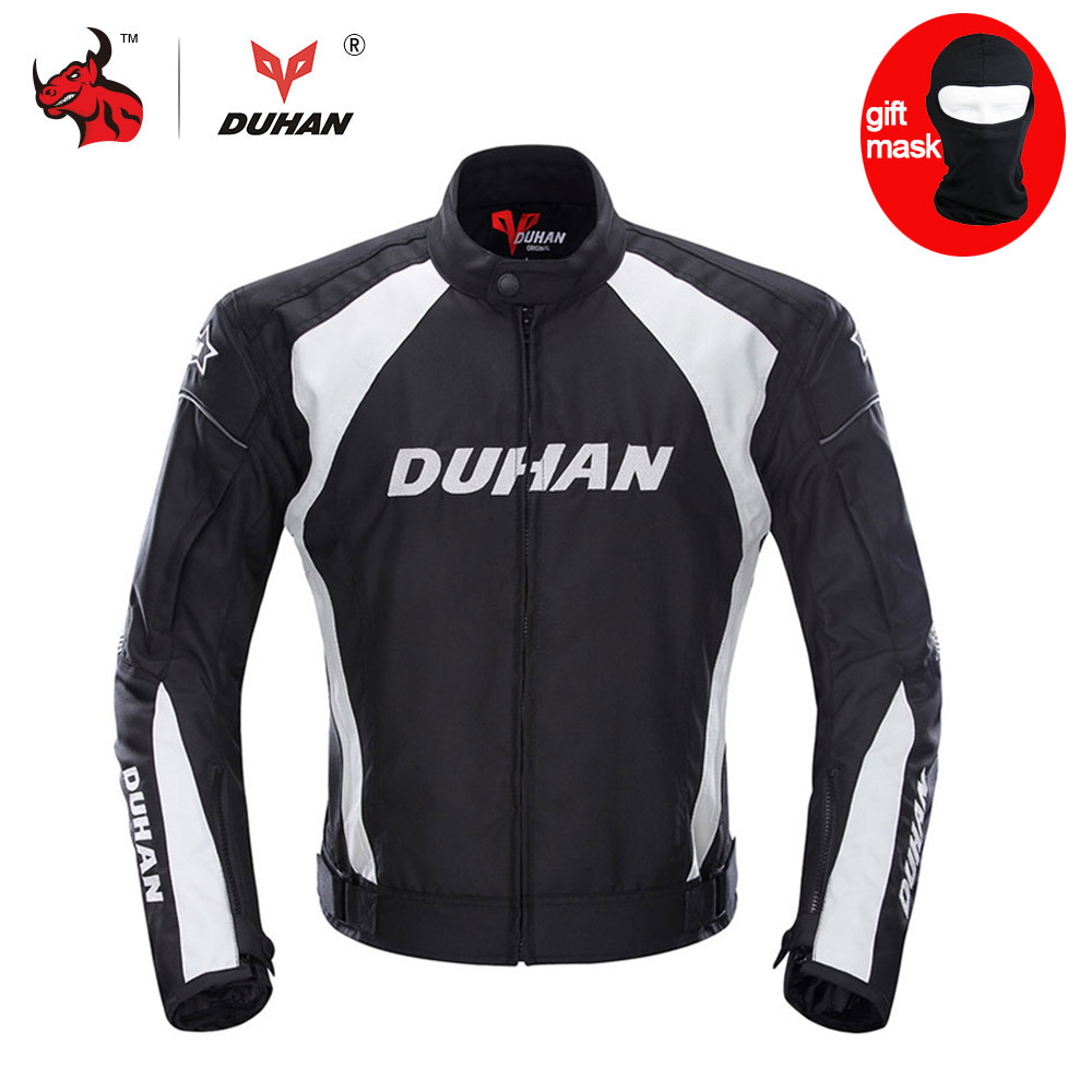 DUHAN Men's Motorcycle Jacket Moto Windproof Racing Jacket Clothing Protective Gear With Five Protector Guards Motorbike Jacket
