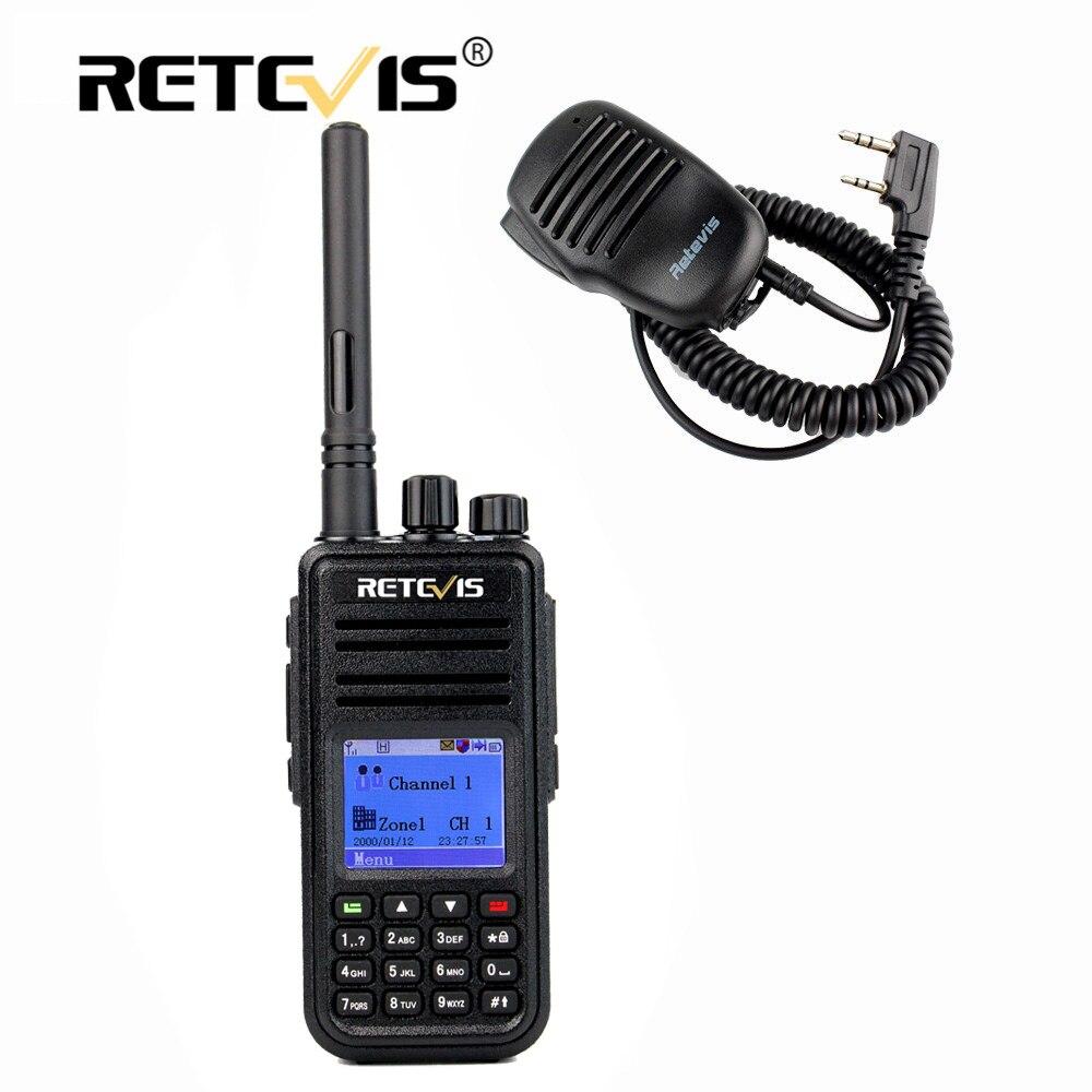 bilder für Digitale DMR Walkie Talkie Retevis RT3 + Mini Lautsprecher MIKROFON UHF (VHF) 5 Watt Verschlüsselung Zwei-wege Hf Radio Station Professionelle Walky Talky