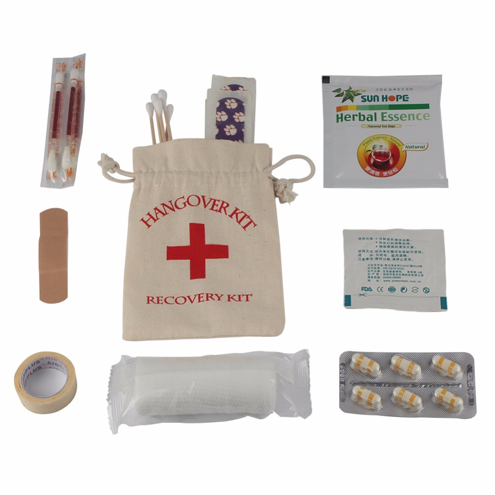 Ourwarm 20pcs Hangover Kits Bags For Birthday Party Decoration