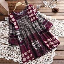 14c8640a7e (Dostawa od US) Feitong Boho kobiety bluzki Plus Size panie luźne lniane  narodowy Hippie huśtawka długa bluzka koszula wierzchołki blusas mujer .