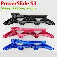 PowerSlide PS S3 인라인 스피드 스케이팅 프레임 4 조각 90mm 100mm 110mm 스케이트 바퀴  X7000 시리즈 알루미늄 합금베이스 프레임