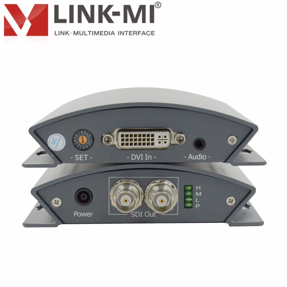 LINK-MI LM-PDS01 Broadcast DVI+Audio to SD/HD/3G SDI Converter With DIP Switch SDI splitter 1x2 for For Camera monitor display