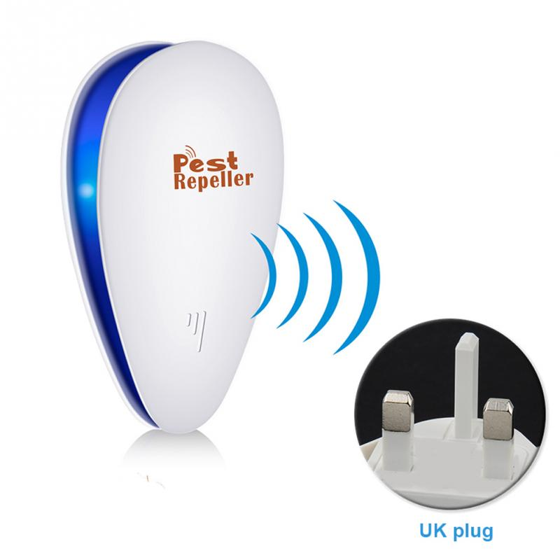 Black and White Ultrasonic Pest Repeller Mouse Rat Trap Insect Ant Household Electronic Insecticide US Plug, UK Plug and EU Plug