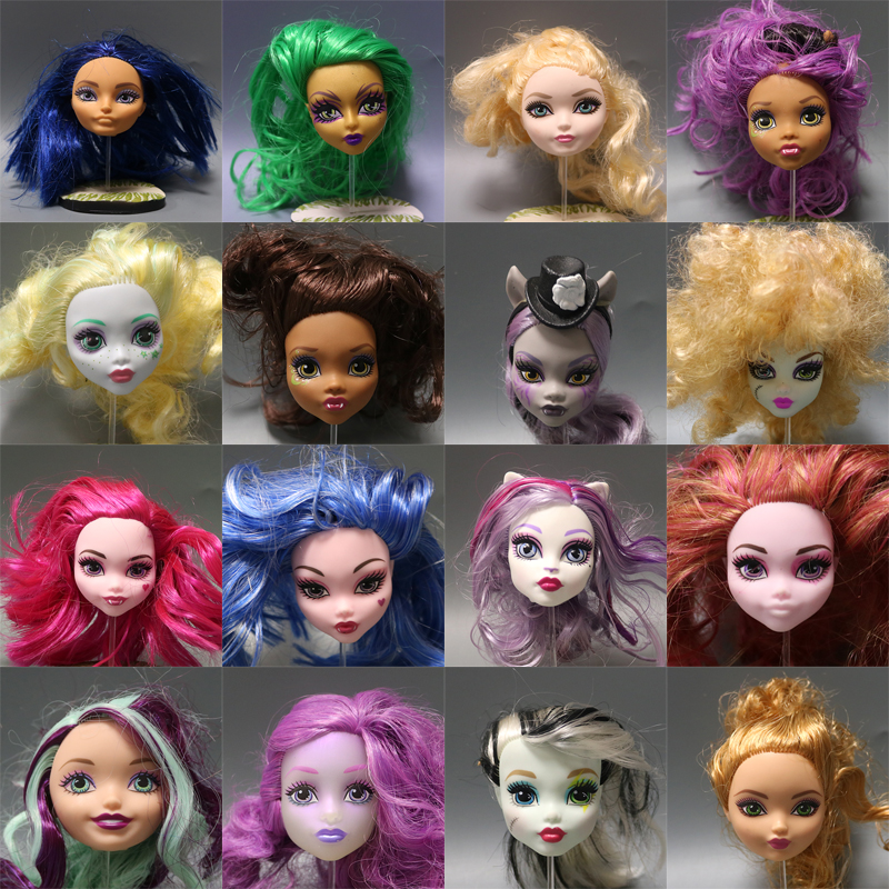 Hot Sale Soft Plastic Practice Makeup Training Doll Head For Monster High Doll BJD Doll's Practicing Makeup  Wave2