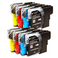 8x Ink cartridge LC61 LC65 LC990 LC1100 Brother MFC-490CN MFC-990CW MFC-990C MFC-5490C MFC-6490CW MFC-6490CN