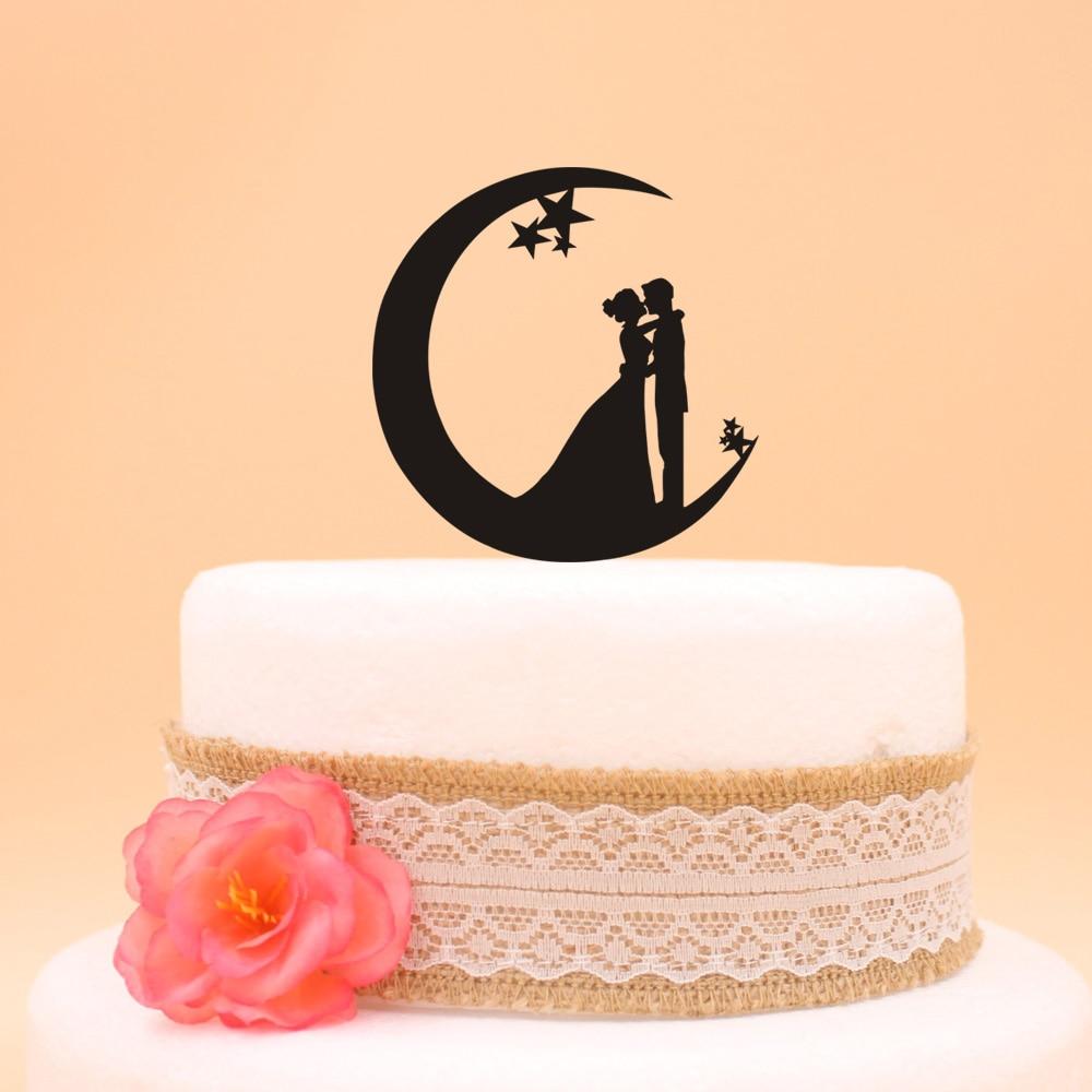 Free shipping Acrylic Bride And Groom Wedding Cake Topper Wedding ...
