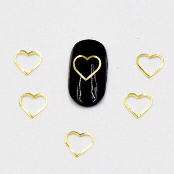 100 pces 3D décoration Ongles coeur or ou argent Décoration d'ongles Bella Risse https://bellarissecoiffure.ch