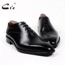 Cie/мужские туфли на заказ с квадратным плоским носком; кожаные мужские туфли ручной работы; Мужские модельные туфли-оксфорды из телячьей кожи с натуральным лицевым покрытием; OX410
