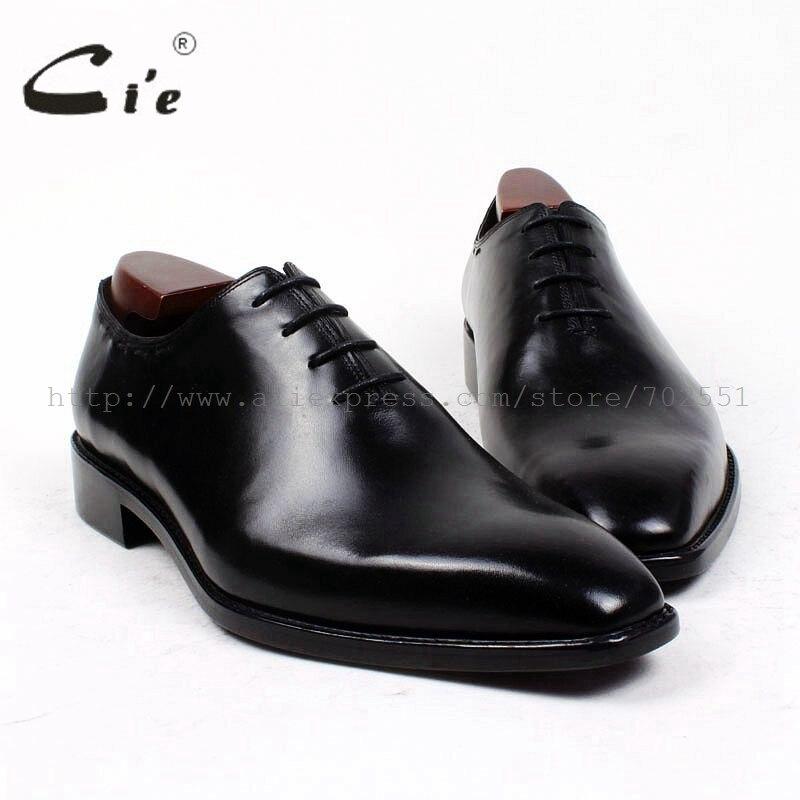 Ayakk.'ten Resmi Ayakkabılar'de Cie kare düz ayak ısmarlama erkek ayakkabısı özel el yapımı deri erkek ayakkabısı tam tahıl buzağı deri erkek elbise oxford ayakkabı OX410'da  Grup 1