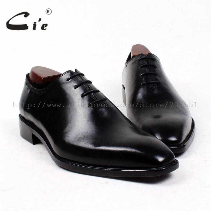 cie square plain toe bespoke men shoe custom handmade leather men shoe pure genuine calf leather men's dress oxford shoe OX410