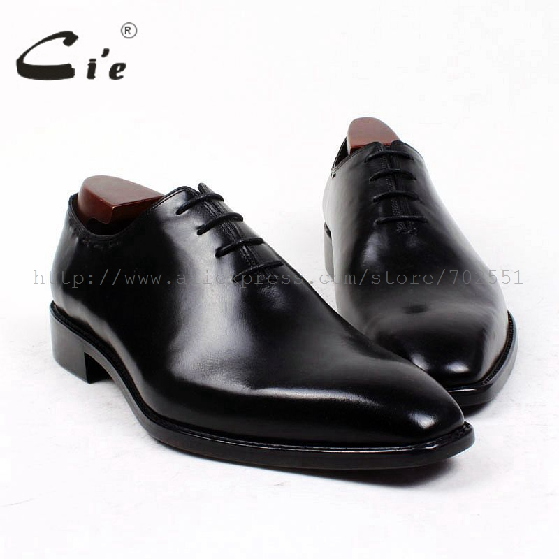 cie square plain toe bespoke men shoe custom handmade leather men shoe full grain calf leather