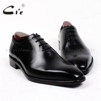 cie square plain toe bespoke men shoe custom handmade leather men shoe full grain calf leather men's dress oxford  shoe OX410 цена 2017