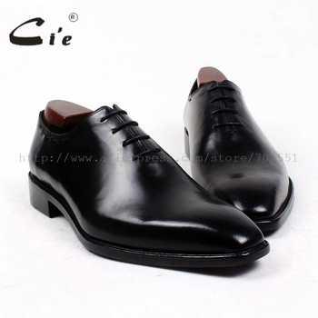 cie square plain toe bespoke men shoe custom handmade leather men shoe full grain calf leather men's dress oxford  shoe OX410 - DISCOUNT ITEM  0% OFF All Category