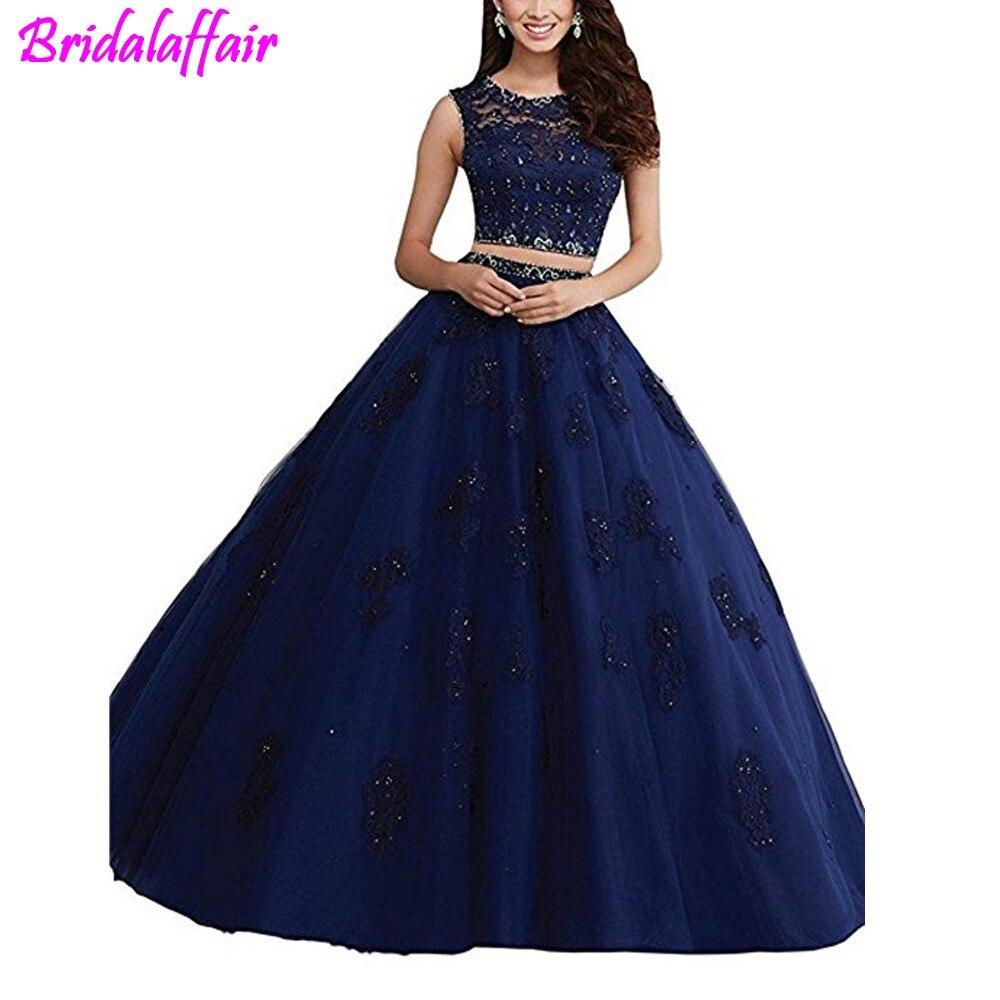 Robe longue dentelle femme 15 anos robe de bal deux pièces robe de bal robes de quinceaneras robe longue debutante