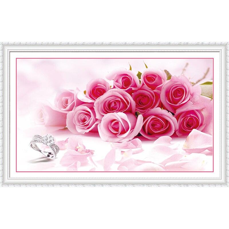 5d diy diamond painting Cross stitch rose flower embroidery crystal mosaic diamond cross stitch kits resin craft decor