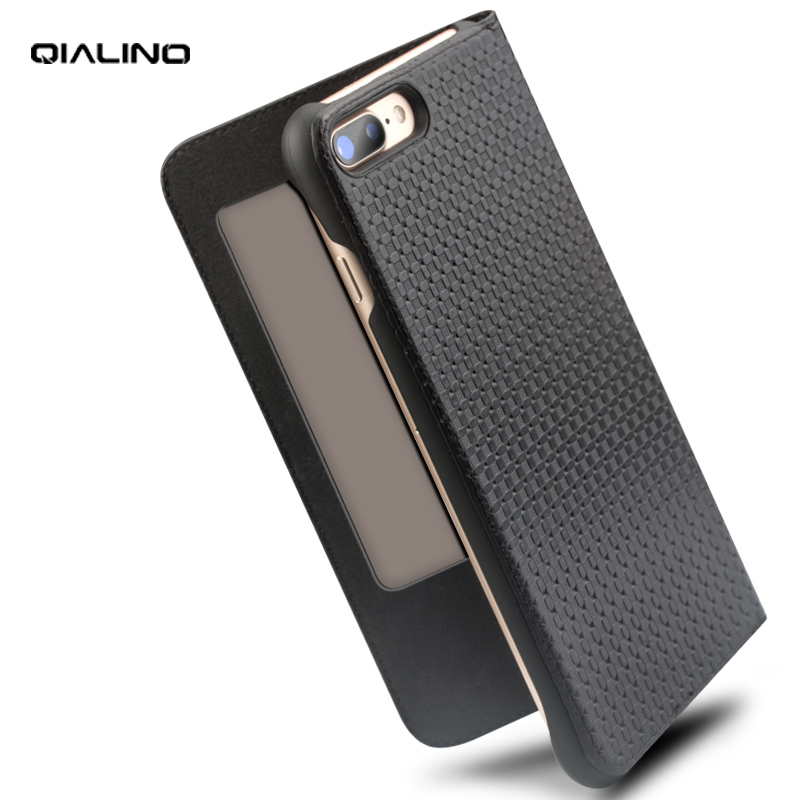 QIALINO High Quality Genuine Leather Phone Cover for iPhone 7/8 4.7 inch Luxury Handmade Flip case for iPhone 7/8 Plus 5.5 inchQIALINO High Quality Genuine Leather Phone Cover for iPhone 7/8 4.7 inch Luxury Handmade Flip case for iPhone 7/8 Plus 5.5 inch