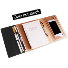 A5 90 Pages With Card Slot Thicken Agenda School Stationery PU Leather Three-fold Coil Binding Notebook Organizer Office Planner concise a5 spiral binding 60 page notepad coil notebook stationery office school supplies
