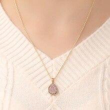 Fashion lucky simple teardrop shape sweet crystal pendant necklace rhinestone charm necklace ladies fashion sweet ladies jewelry sweet rhinestone elephant necklace jewelry for women
