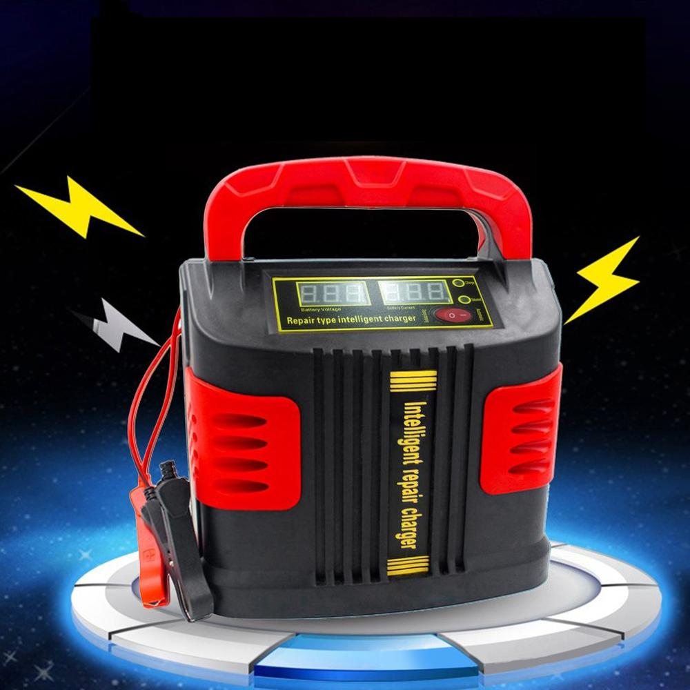 """Portable Intelligent Charger Auto Motor Vehicle Charger 350W 14A Auto Adjust LCD Battery Charger Car Jump Starter Booster ""(China)"