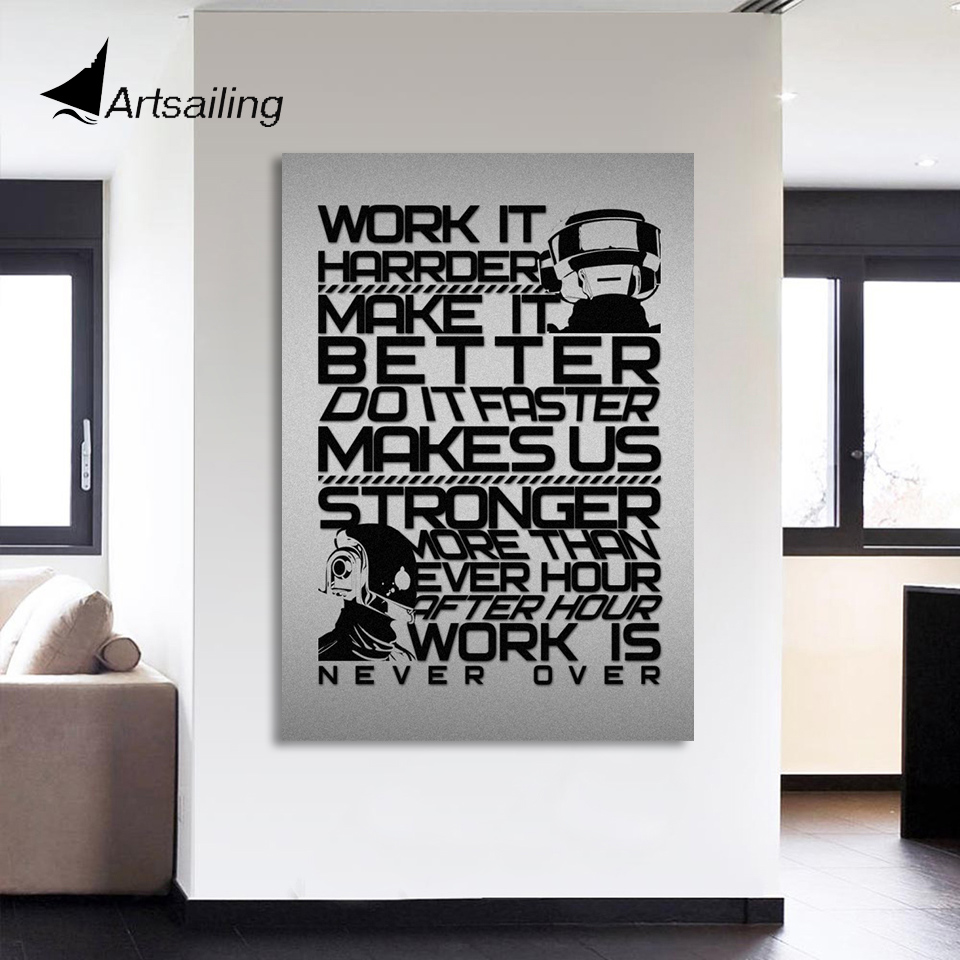 Hd Printed 1 Piece Inspirational Quotes Canvas Painting