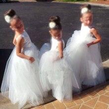 Младенец аппликации довольно тюль девочка платья платье белый детские
