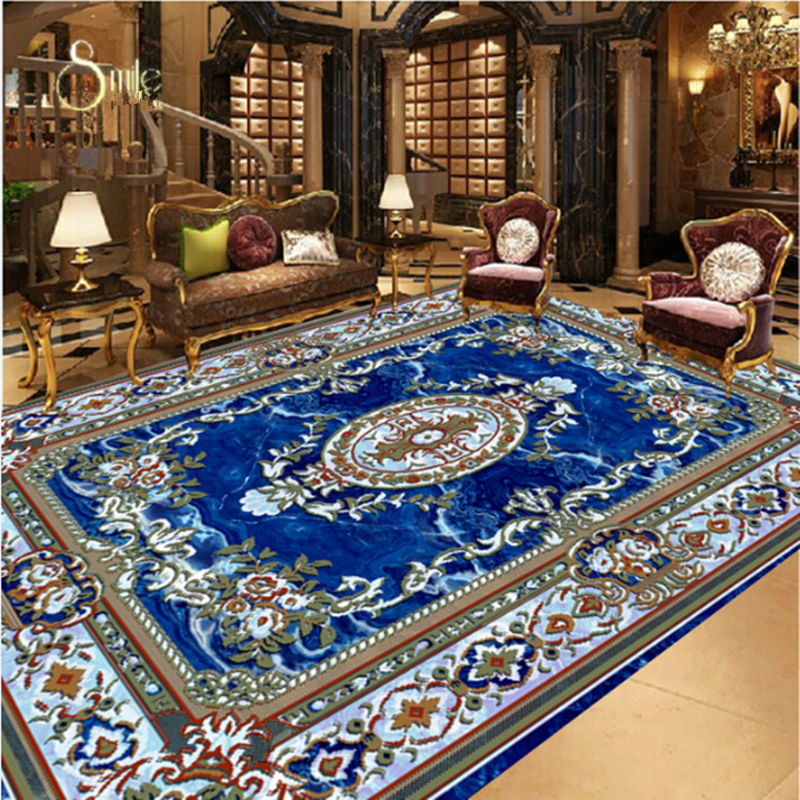 PVC Self Adhesive Floor Stickers 3D Flooring Wallpapers Flowers Photo Luxury Murals Stickers Home Decor for Bedroom Living Room high quality 3d flooring custom photo wall mural pebble lotus 3d floor murals wallpapers for wall 3d floor tiles living room