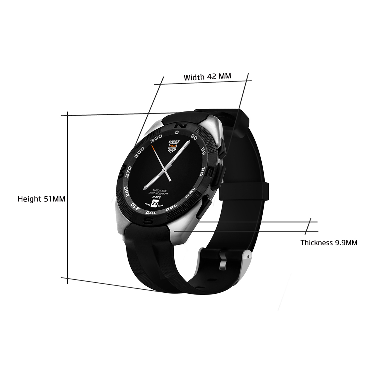 4e708e00f Original NO.1 G5 Sport Running Smart Watches Men Women Bluetooth Smartwatch  Clock For Android ISO Phone With Heart Rate Monitor-in Smart Watches from  ...