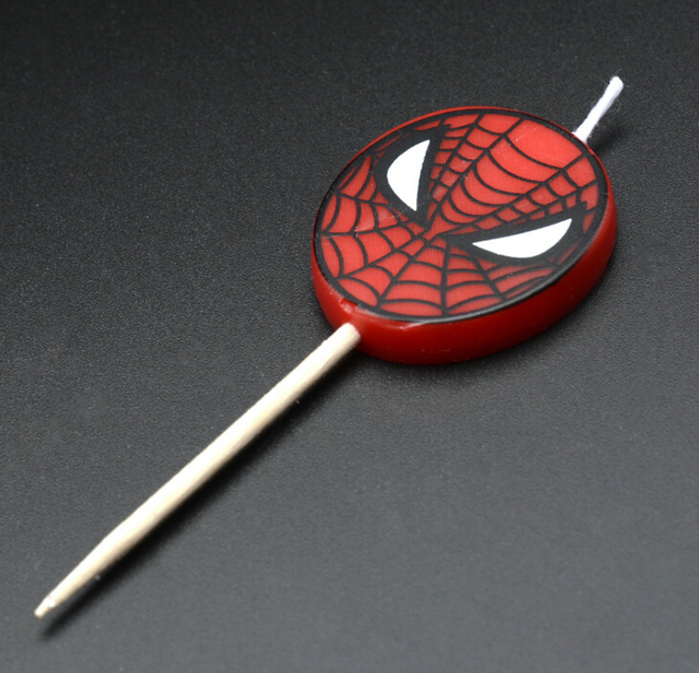 Spiderman Style Candles