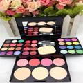 Pro Maquiagem 24 Cores Da Paleta Da Sombra Blush Lip Gloss Kit Escova de Sombreamento Em Pó Saúde & Beleza Acessórios