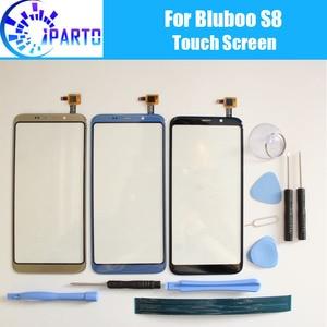 Image 1 - Panel dotykowy Bluboo S8 100% gwarancji nowy oryginalny szklany Panel ekran dotykowy szkło dla Bluboo S8 + narzędzie + klej