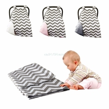 Newborn Baby Girls Boys Soft Cotton Car Seat Cover Canopy Blanket Carseat #H055#