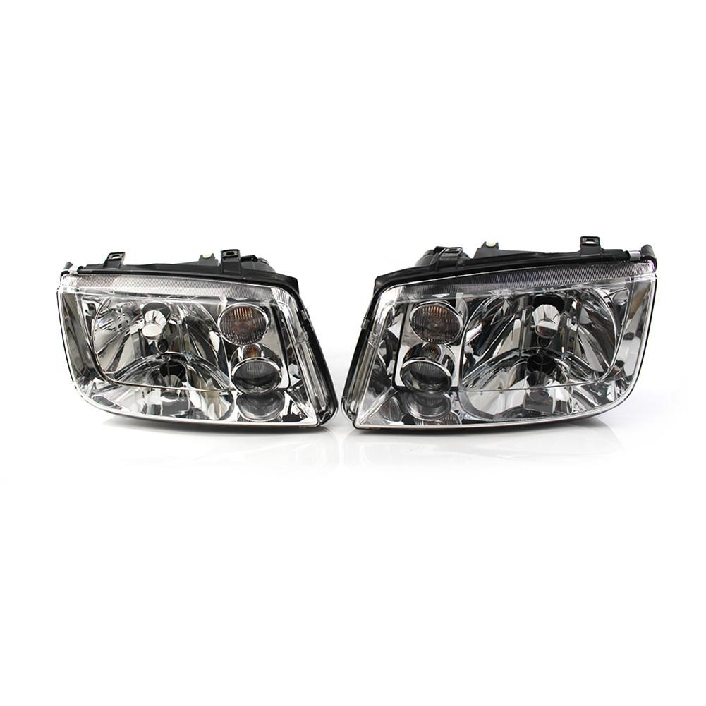 Front Chrome Clear Car Headlights For Volkswagen VW Jetta Bora Mk4 1998~2004 Car Light Assembly Auto Headlamp