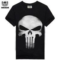 2015 Heavy Metal Skeleton Men S T Shirt Black Cotton Hip Hop T Shirt Casual Music