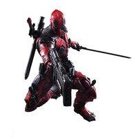 26cm Play Arts Kai Deadpool Wade Winston Wilson X men Anime Action Toy Figures Pvc Model Collection