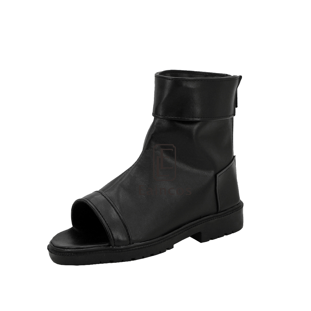 Anime Naruto Uchiha Sarada Black Cosplay Party Shoes Customized Size
