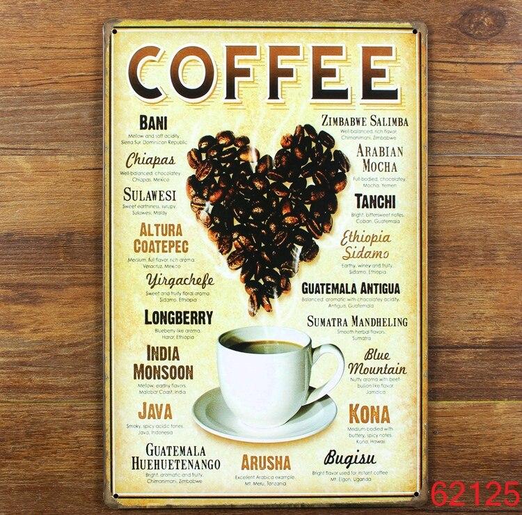 Coffee Bean 2016 New Metal Signs PUB Wall art Painting Poster Bar ...