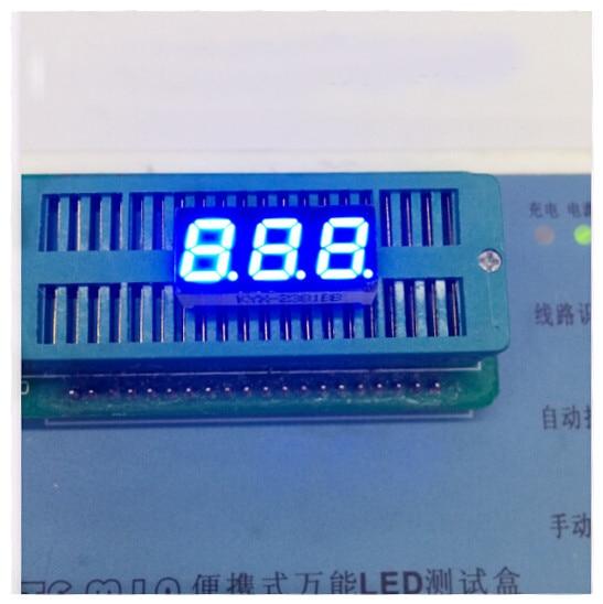 100pc Common Anode/Common Cathode 0.28 Inch Digital Tube 3 Bit Digital Tube 0.28inches Best Digital Tube Blue