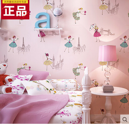 Childrenu0027s Room Princess Room Wallpaper Boys And Girls Bedroom Wallpaper  Decoration Romantic Pink Green Wallpaper In Wallpapers From Home  Improvement On ...