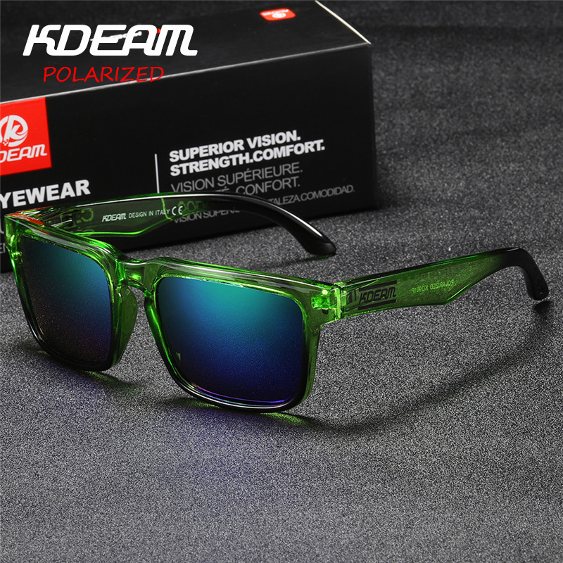 Kdeam Polarized summer Sunglasses Men Reflective Coating Square Sun Glasses Women Brand Designer UV400 With Original Case KD901P