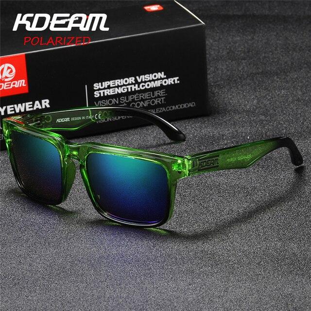 Kdeam Revestimento verão Óculos De Sol Dos Homens Polarizados Reflexivo  UV400 Quadrados Óculos de Sol Mulheres 5f5ee5a27c